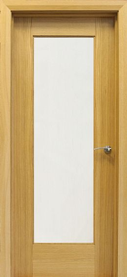 Shaker 1 Lite White Oak Door (40mm)